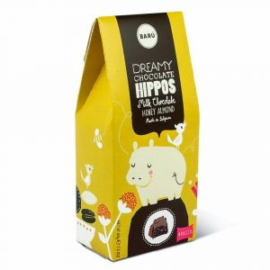 Barú Dreamy Hippos Milk Chocolate Honey Almond 4 Stuks