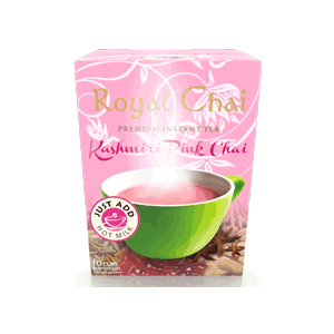 Royal Chai Kashmiri Pink Chai Latte (sweetened)